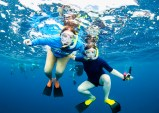 Becky and I under water