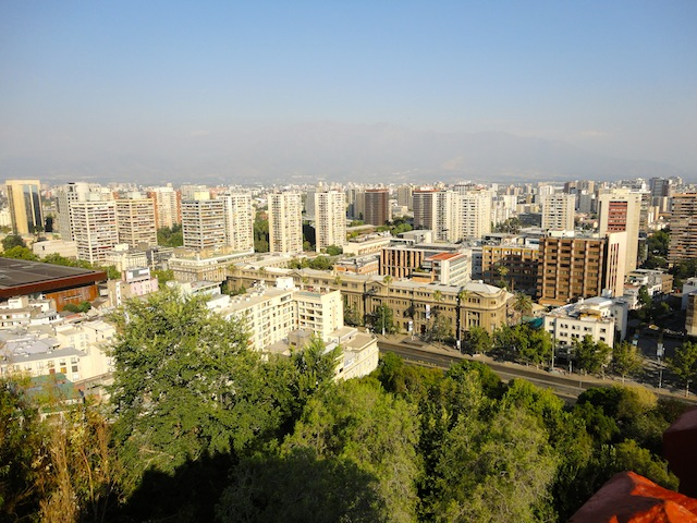 Santiago - vue de Santa Lucia