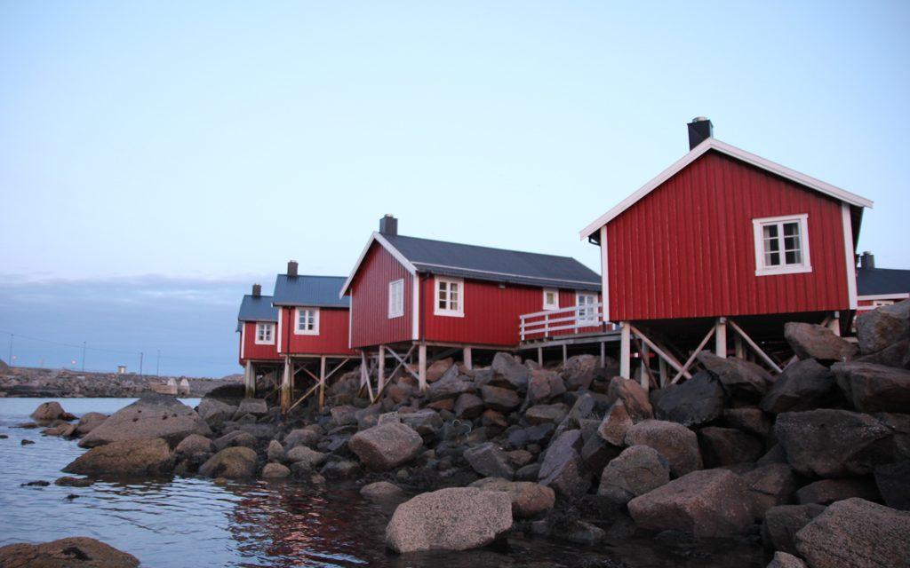 Vue sur les rorbuer lors de notre voyage en Norvège