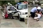 #Lo+Viral : Checa el momento en que una mujer cae con bebé en brazos (+Video)