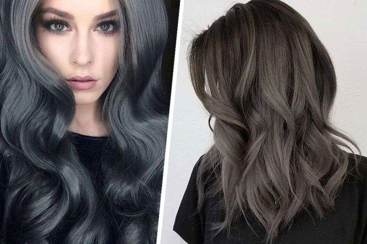 color carbón –cabello–de–moda