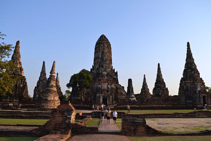 wat chaiwatthanaram couché de soleil temple ayutthaya