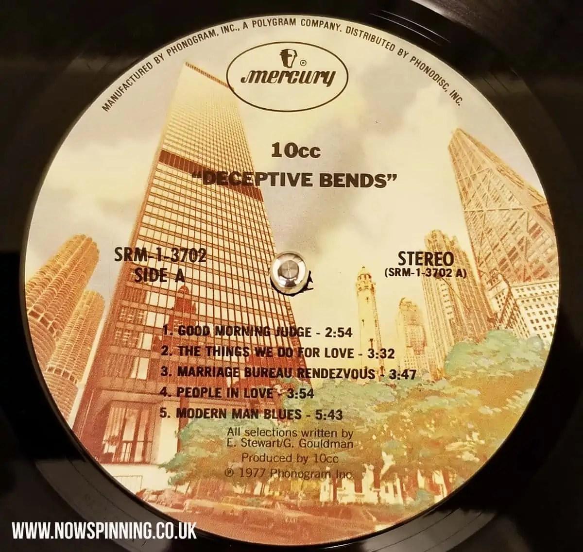 10cc Deceptive Bends vinyl mercury records