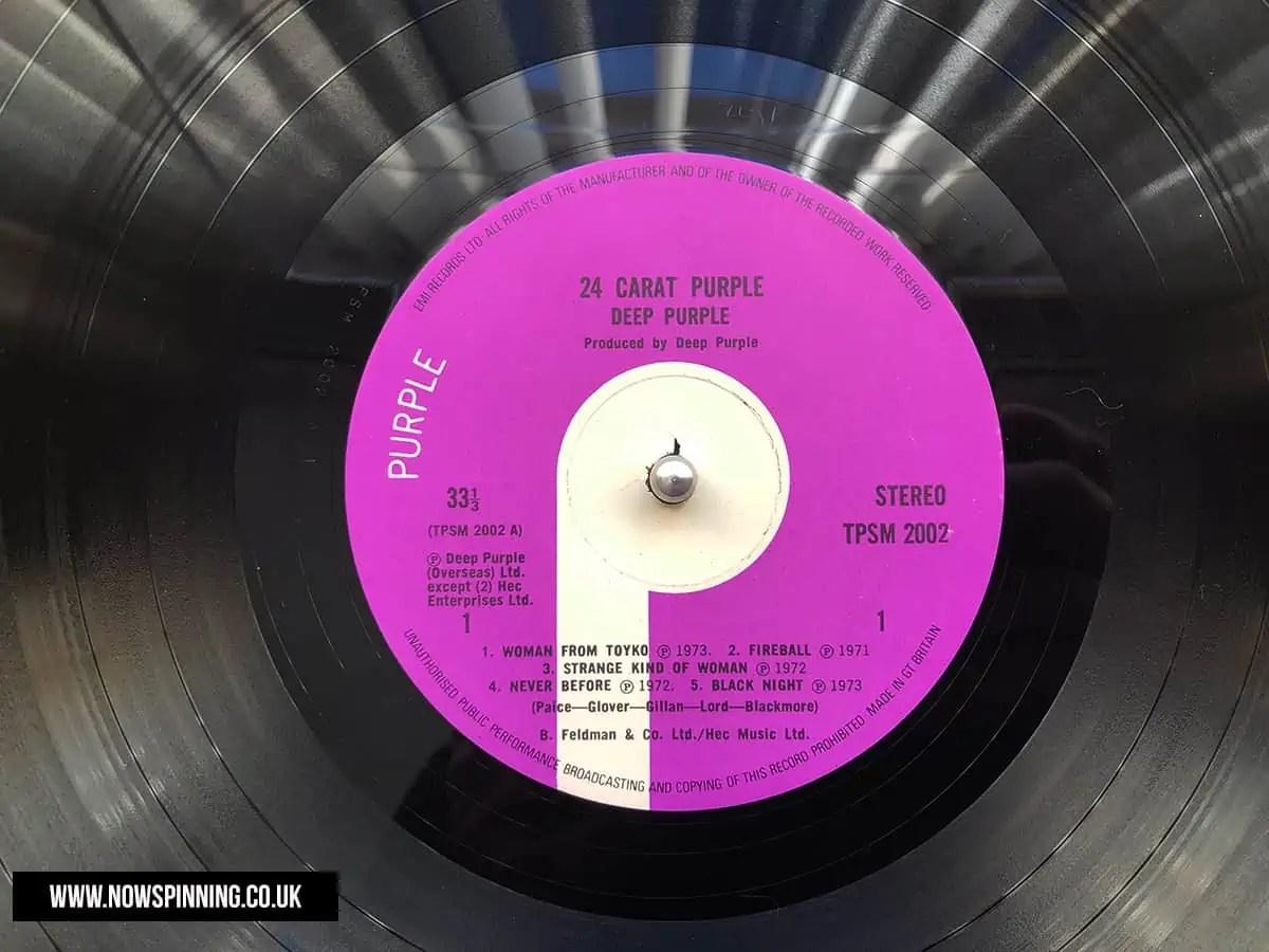24 Carat Purple Vinyl Side one