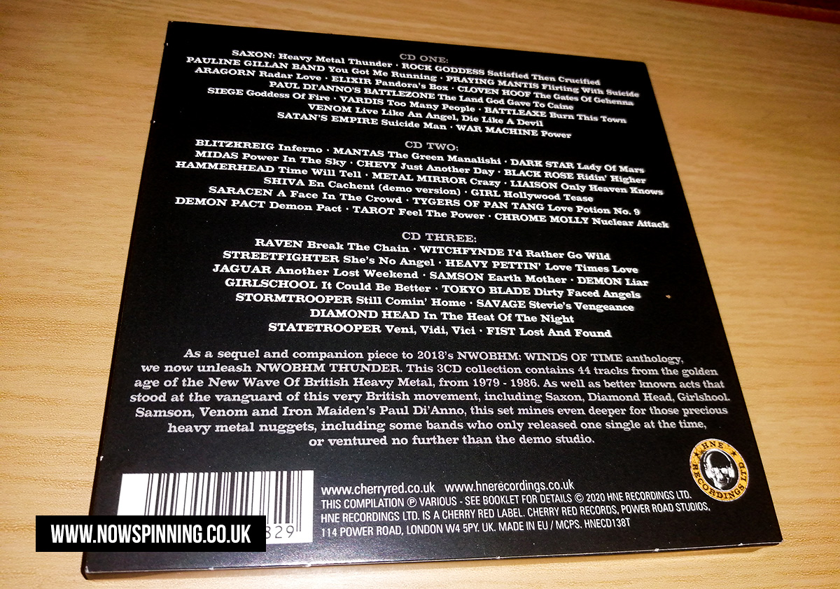 NWOBHM THUNDER: New Wave of British Heavy Metal 1978-1986 track listing