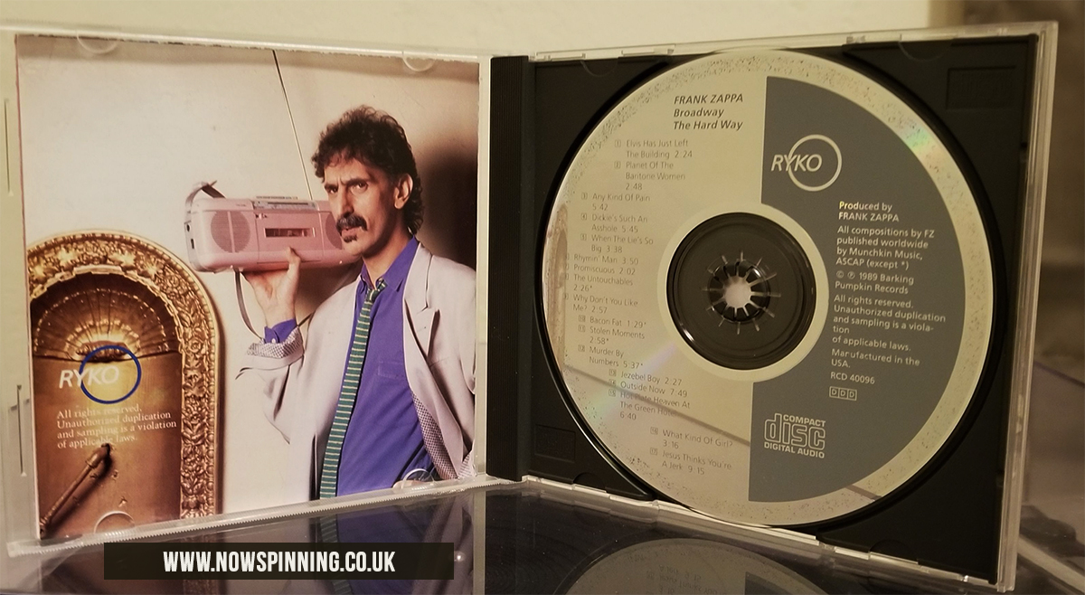 Frank Zappa Live Broadway The Hard Way CD