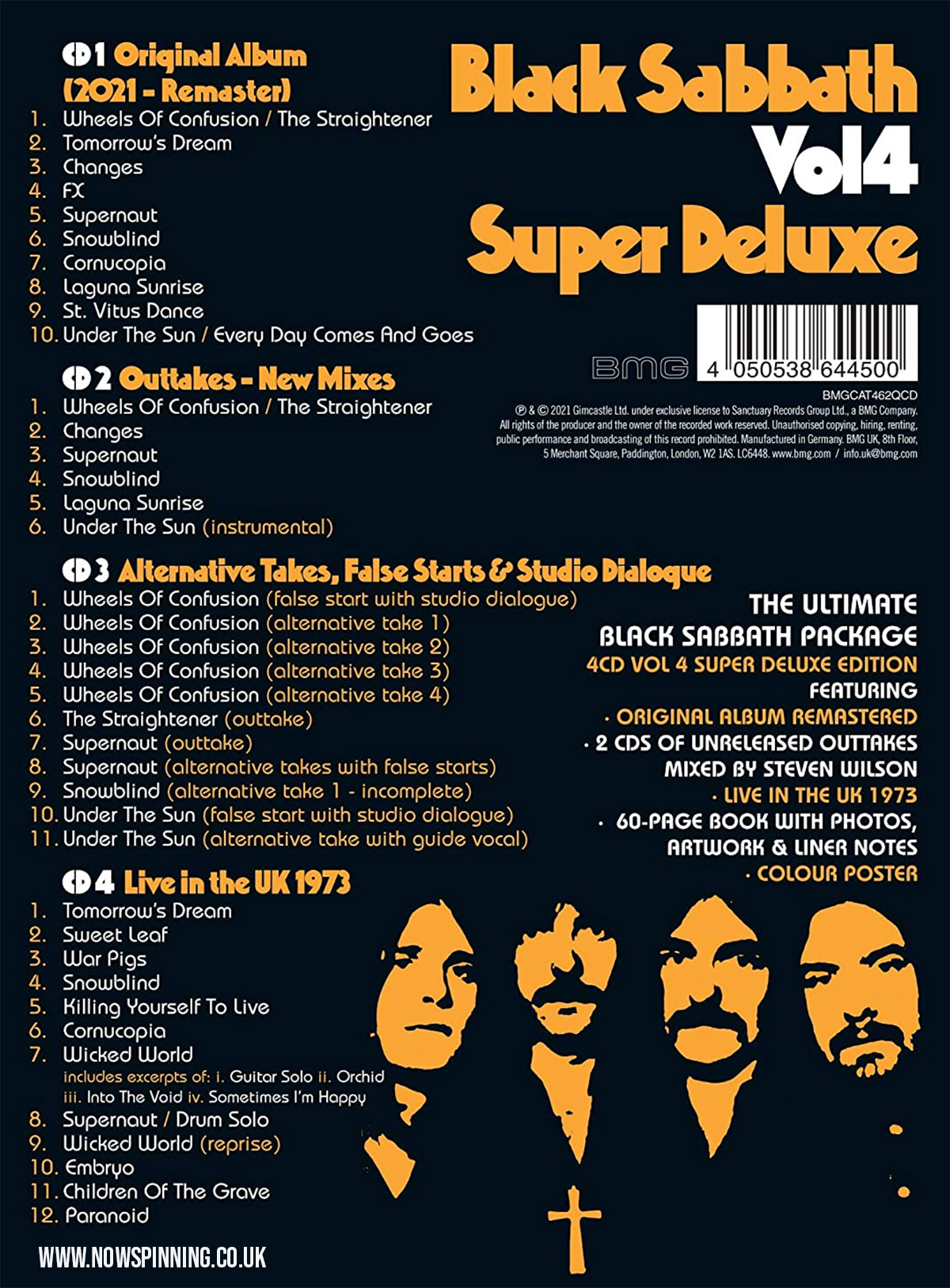 Black Sabbath Vol 4 - Super Deluxe Edition - 4CD Steven Wilson Remix