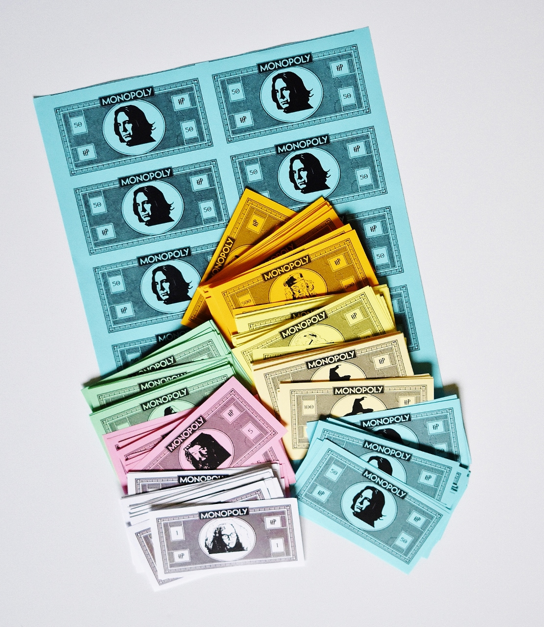 picture regarding Printable Monopoly Money identified as Do it yourself Harry Potter Monopoly Activity with Absolutely free Printables
