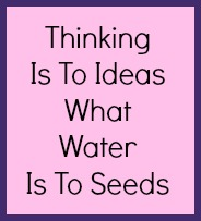 Thinking is to ideas what water is to seeds.