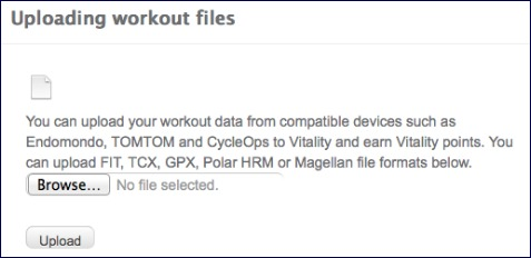 Upload working files to Vitality screens.