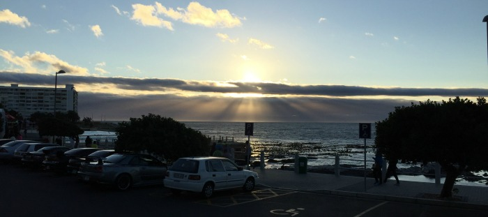 Sunset at Riviera Resort Sea Point, Cape Town.
