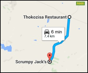 7 kilometres from Thokozisa to Scrumpy