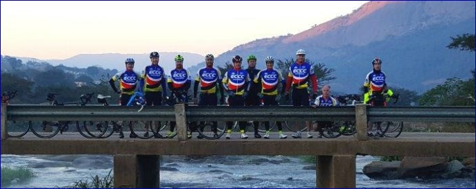 ECCC riders on the Marianne Foley Bridge 26 June 2016