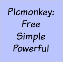 Picmonkey is free, simple and powerful.