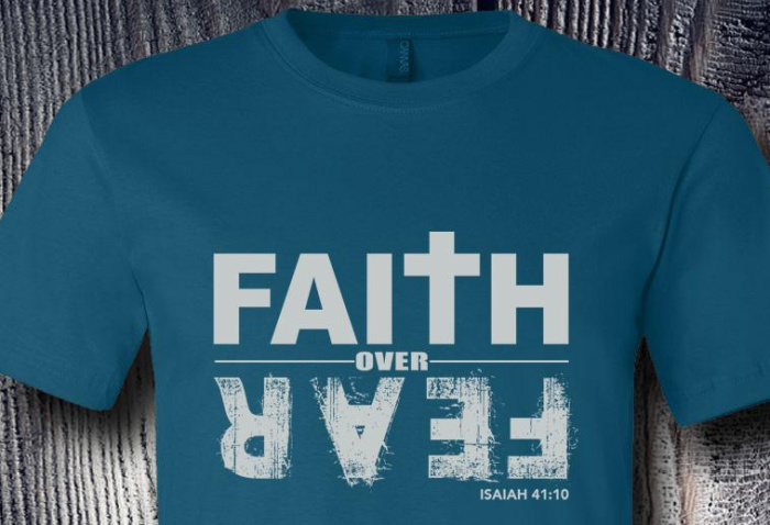 Faith Over Fear Tee @ Pepper Apparel Co