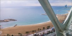 Hotel Arts Barcelona: 30th floor view of the Mediterranean