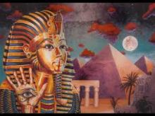 eye of horus pyramid and pharoh with eye on hand