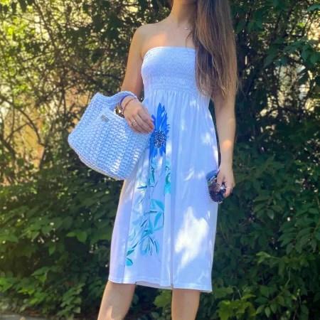 NXM-215 fehér nyári ruha