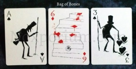 Bag of Bones: Ace of Spades, 6 of Diamonds, & 3 of Spades.