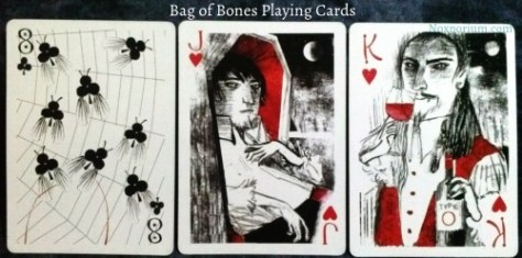 Bag of Bones: 8 of Clubs, Jack of Hearts, & King of Hearts.
