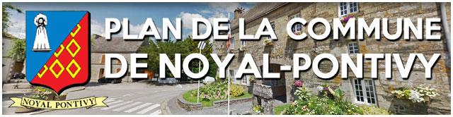 Plan de la commune de Noyal-Pontivy