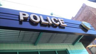 San Mateo駅近くの警察