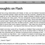 """ジョブズが""""Thoughts on Flash""""を出してた"""
