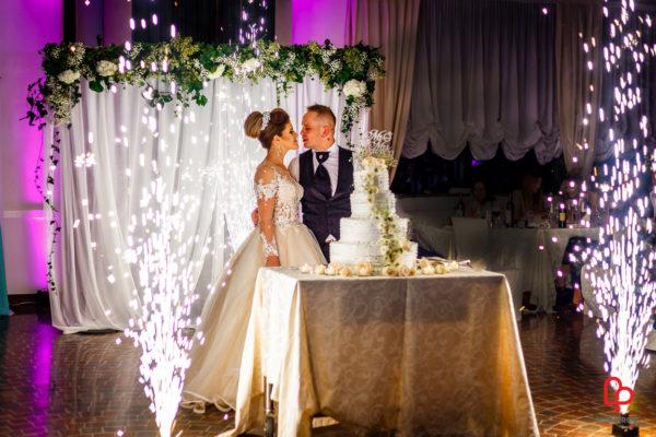 fuochi artificio matrimonio taglio torta nuziale