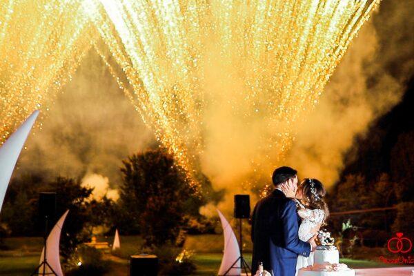 fuochi d'artificio matrimonio