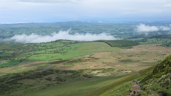 Looking back from Hay Bluff