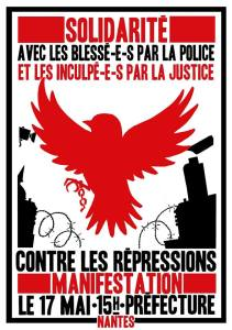 affiche manifestation contre toutes les répressionsNantes 17mai 2014