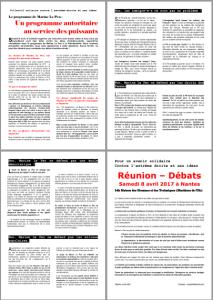 tract 4 pages collectif contre l'extrême droite et ses idées Nantes avril 2017