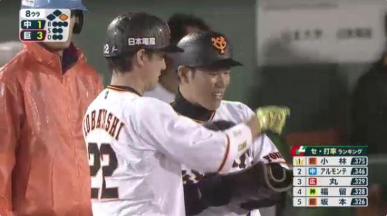 【朗報】小林誠司さん、首位打者wwwwww
