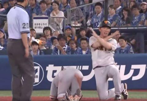 【悲報】巨人・吉川尚輝が一塁ヘッドスライディングで骨折・・・
