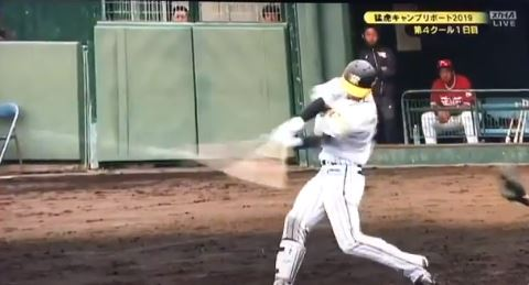 【朗報】阪神ドラ1近本、対外試合初ヒット!なお盗塁