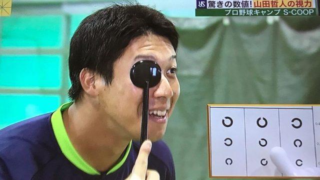【悲報】ヤクルト山田哲人さんの視力・・・