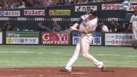 【GIF】ソフトバンク柳田、逆転のグランドスラム!!