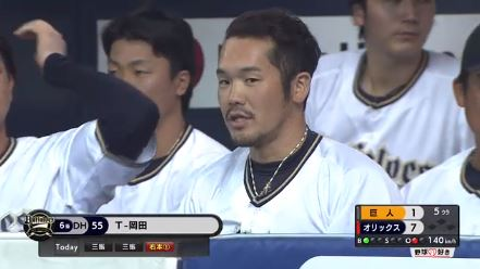 【GIF】さっきのT- 岡田のホームランwwwwwwwww