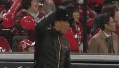 【GIF】中谷が逆転2ラン打った時の阪神・矢野監督wwwwwwww