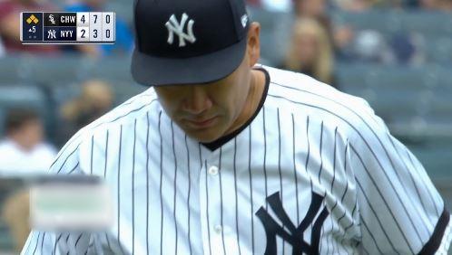 【悲報】ヤンキース田中将大、4.0回 81球 1被本 7被安 6奪三振 3与四球 5失点