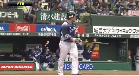 【GIF】西武・山川6号3ランホームランwwwwwww
