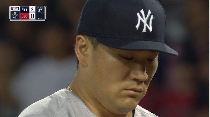 【超悲報】ヤンキース田中将大、3回1/3を12失点の大炎上で防御率4.79に爆上げしてしまう
