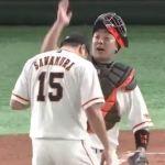 【GIF】阿部慎之助さん、澤村の頭を叩こうとするwwwww