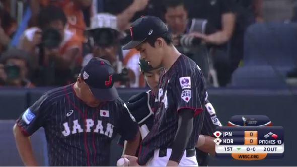 【悲報】先発の佐々木朗希くん、1回で緊急降板する【U18野球W杯】