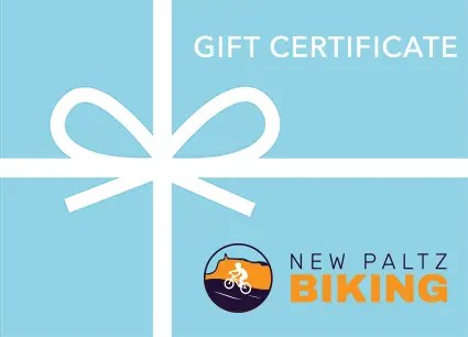 gift certificate from New Paltz Biking