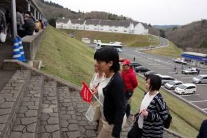 岡国バス到着