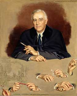 Franklin D. Roosevelt, National Portrait Gallery