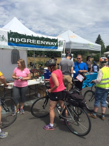 npGREENWAY booth at Sunday Parkways