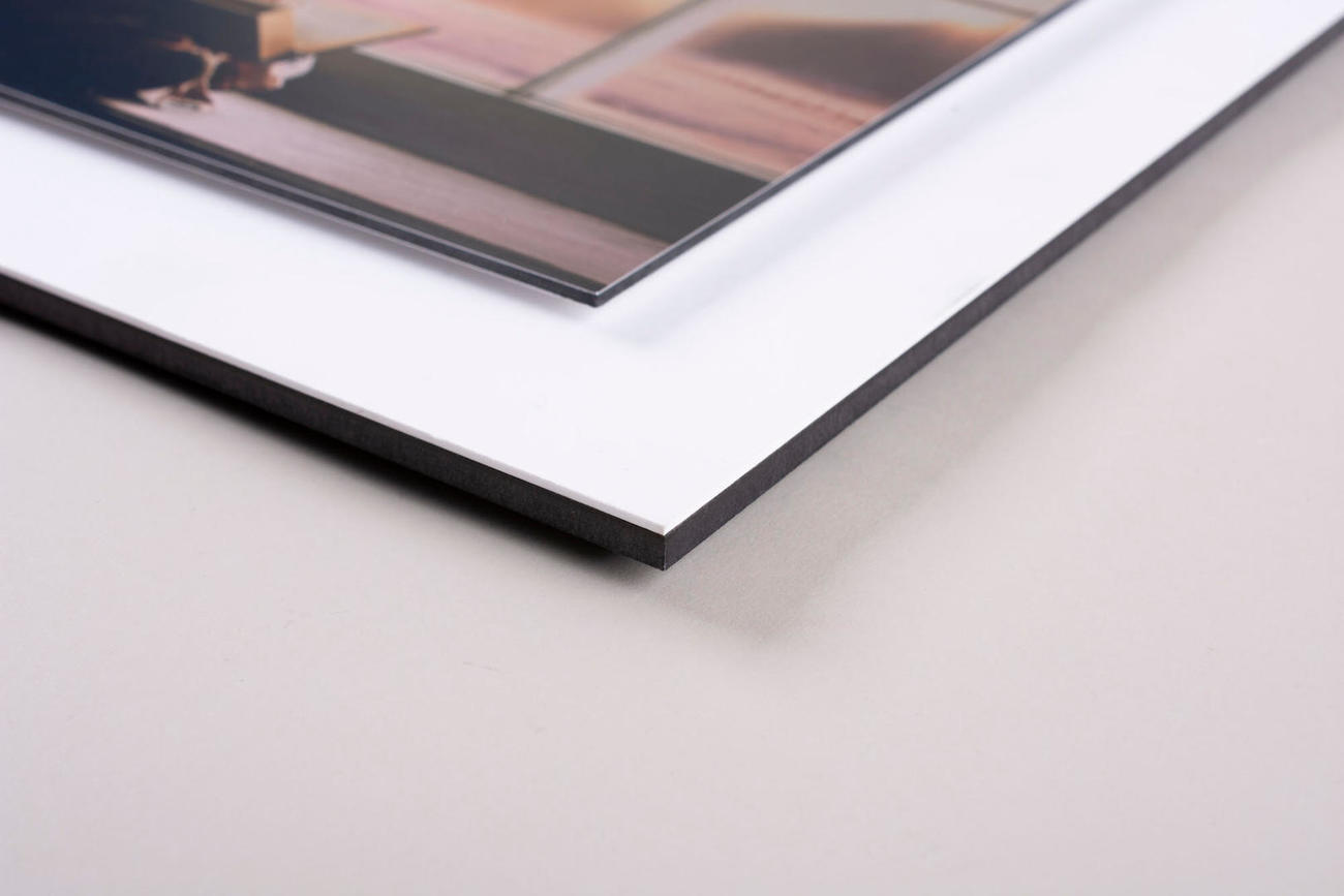 stacked dibond metal print