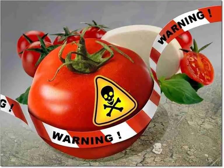 frutta e verdure contaminato